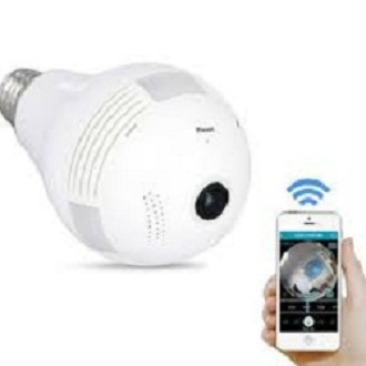 Jooan Brand Wireless Wifi Panoramic 360Degree Vr Light Bulb Hidden Ip Camera